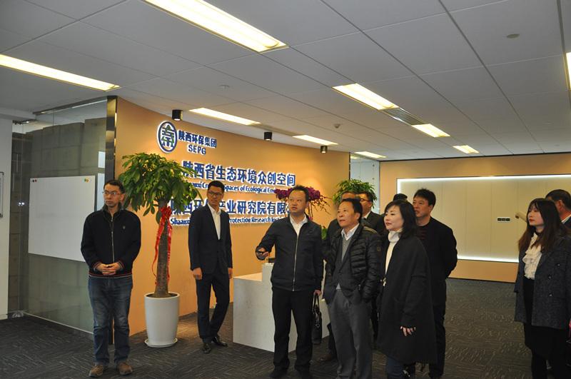 顾峰拜会西安国际港务区管委会领导并赴省生态乐天堂娱乐在线众创空间调研