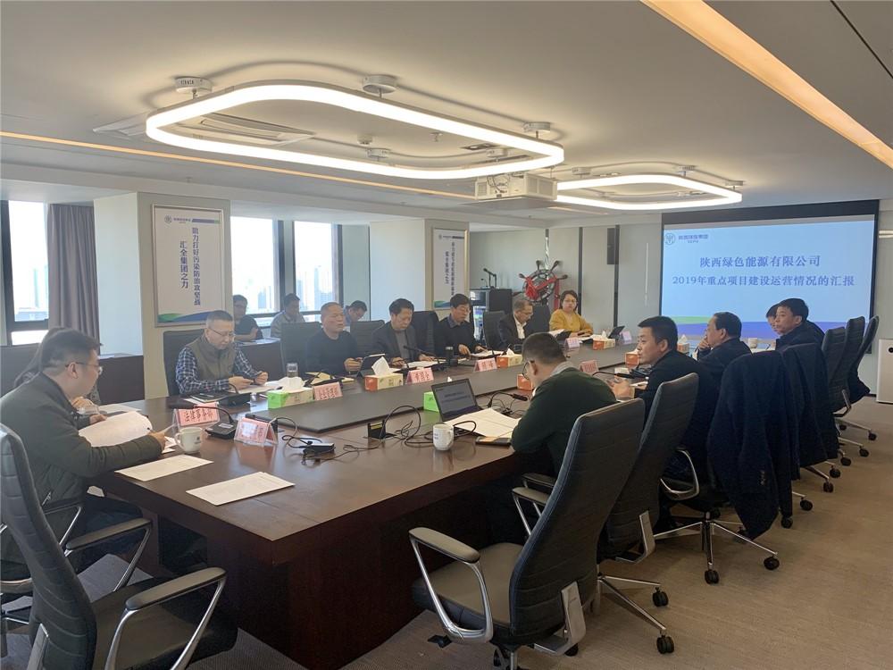 顾峰听取绿色能源公司重点项目建设运营情况汇报