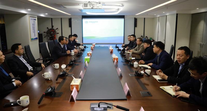 商洛市县政府一行到陕西环保集团交流座谈 熊良虎出席